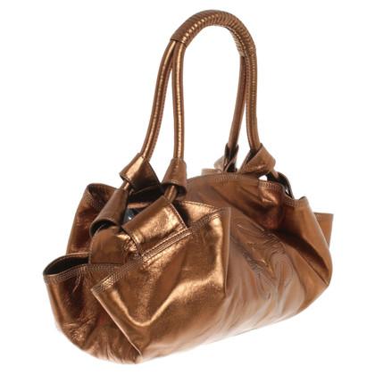 Loewe Metallicfarbene Handtasche