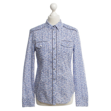 Strenesse Blue Blouse with floral pattern