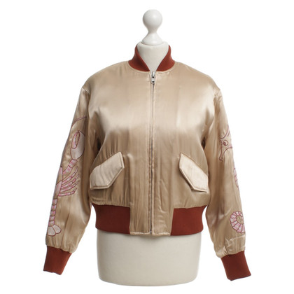 Ganni Bomber jacket with embroidery