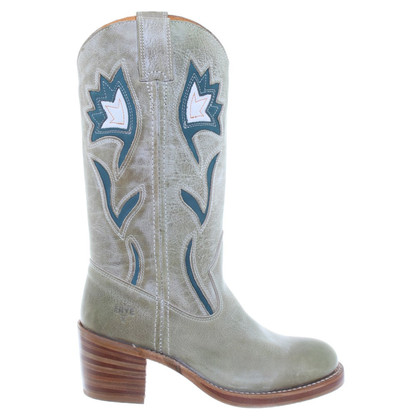 Frye Cowboy boots in green