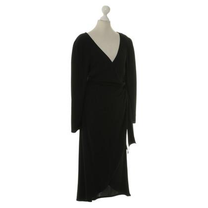 Jil Sander Wikkel jurk in zwart