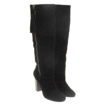 Coach Wild leather boots in black
