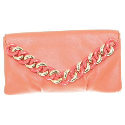 Michael Kors clutch with chain trim