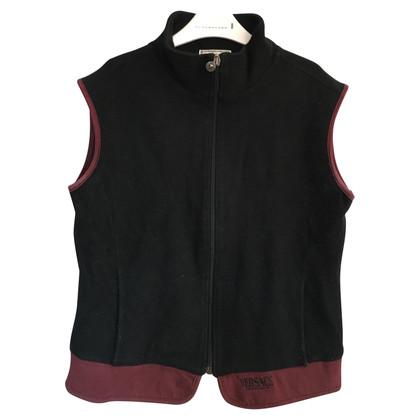 Versace Vest in black / Bordeaux red