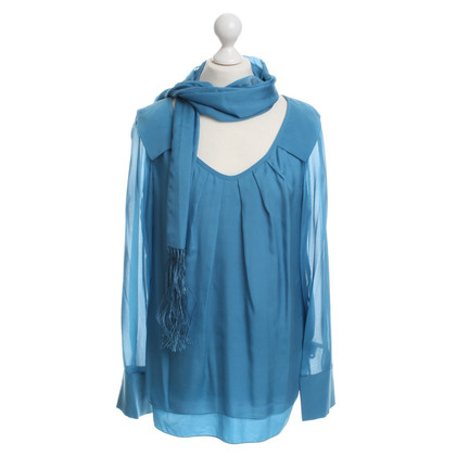 Laurèl Silk blouse in blue