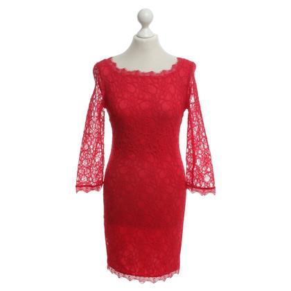 Joseph Ribkoff Kanten jurk in rood