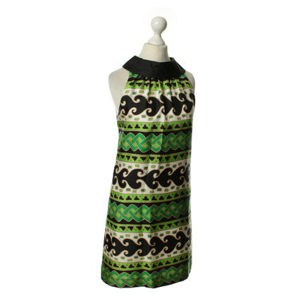 Tibi Kleid mit grünem Muster