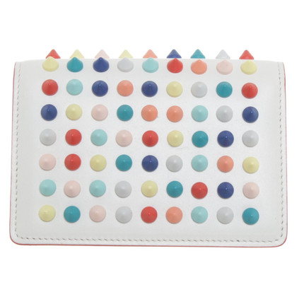 Christian Louboutin Card case with colorful rivets