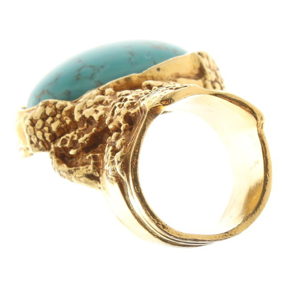 yves saint laurent ring with stones buy second hand yves. Black Bedroom Furniture Sets. Home Design Ideas