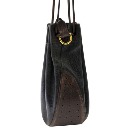 Delvaux Leather Bucket Bag