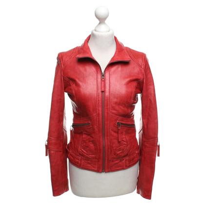 Oakwood Leather jacket in red