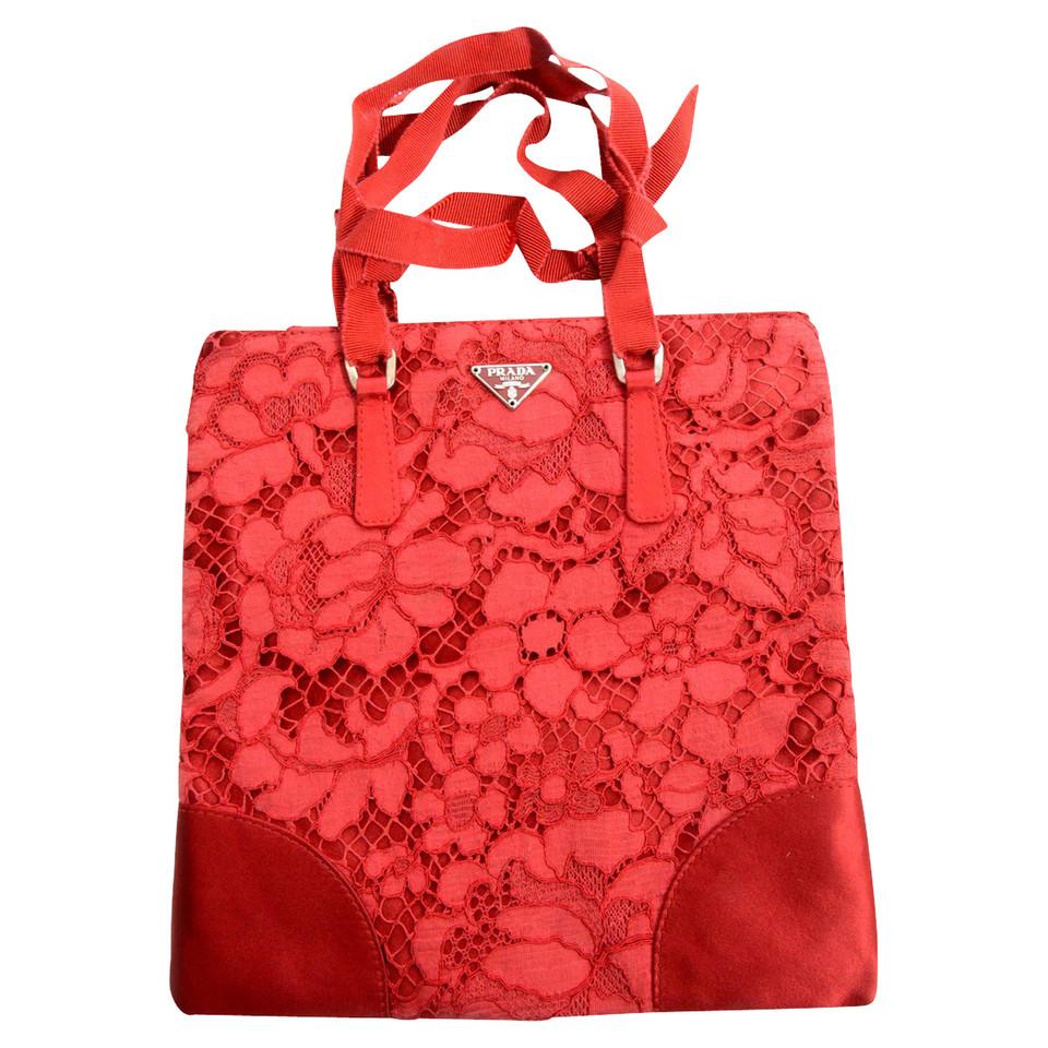 prada rote tasche second hand prada rote tasche gebraucht kaufen f r 189 00 2032269. Black Bedroom Furniture Sets. Home Design Ideas