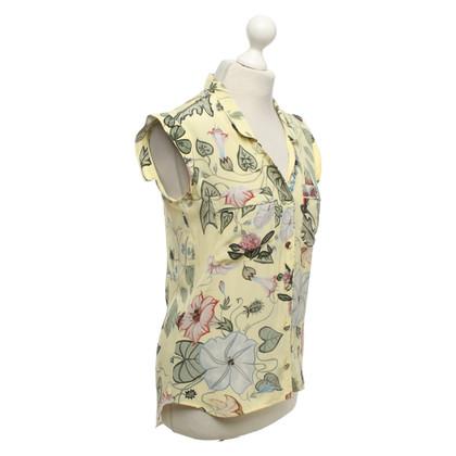 Gucci Camicetta senza maniche con motivo floreale