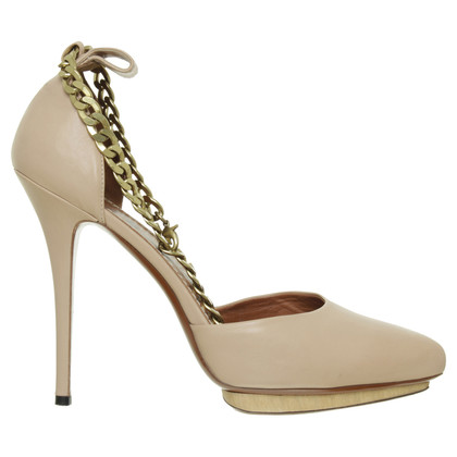 Lanvin D'Orsay Pumps with ankle straps