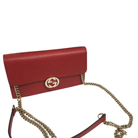 Rabatt Mit Paypal Gucci Portemonnaie mit Tragekette Rot Großer Rabatt Unter 50 Dollar OZ7VvFf
