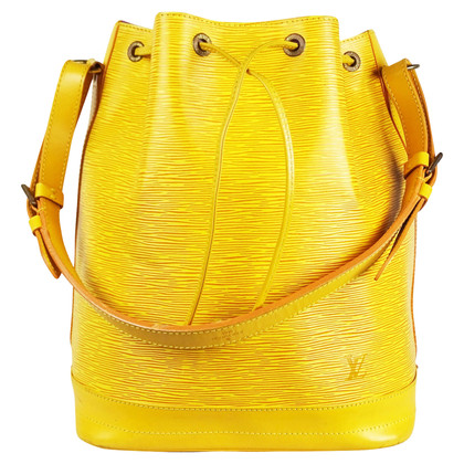 "Louis Vuitton ""Grand Noé Epi leather"" in yellow"