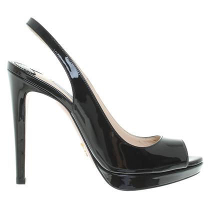 Prada pumps in black patent leather