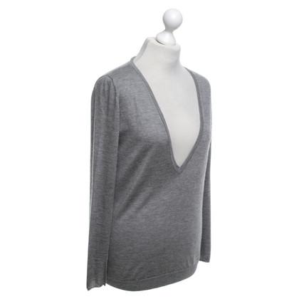 Brunello Cucinelli Kaschmir-Pullover in Grau
