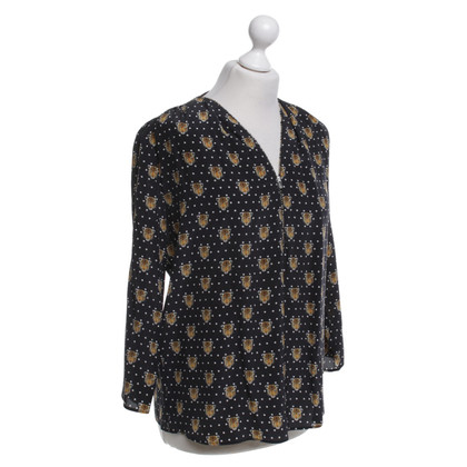 Sandro Silk shell with pattern