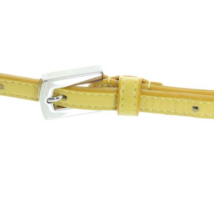 Malo Yellow leather belt