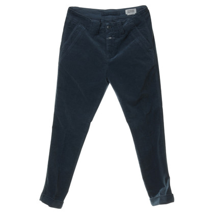 Closed Velvet pants in petrol