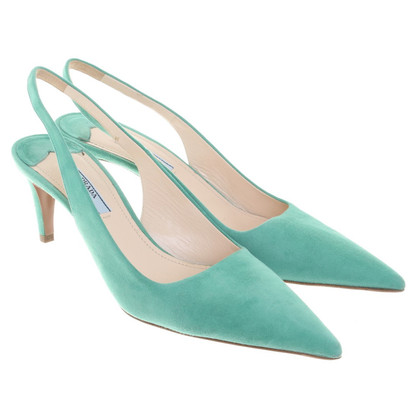 Prada pumps in mintgroen