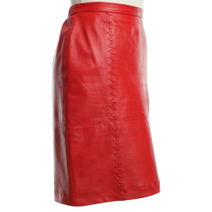 Givenchy Leather skirt in red