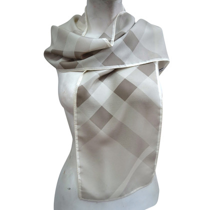 Burberry silk scarf with check pattern