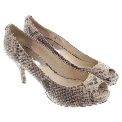 Michael Kors Peep-toes in reptilian look