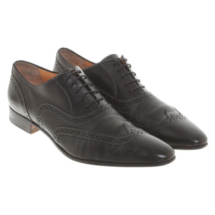 Santoni Budapest lace-up shoes in black
