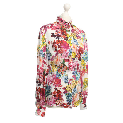 D&G Silk blouse with floral print