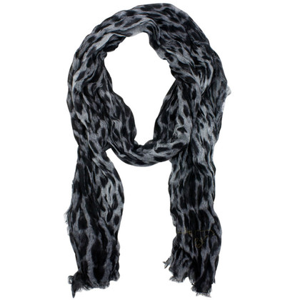 Roberto Cavalli Grey scarf with Animalprint