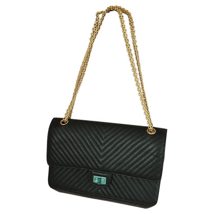 "Chanel ""2.55 reissue Flap Bag Medium"" with Chevron quilting"