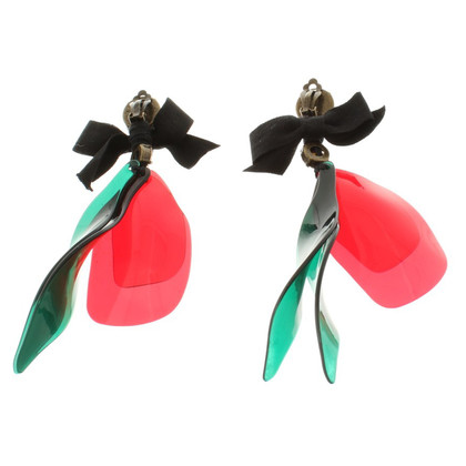 Marni for H&M Clip Earrings with colorful pendant