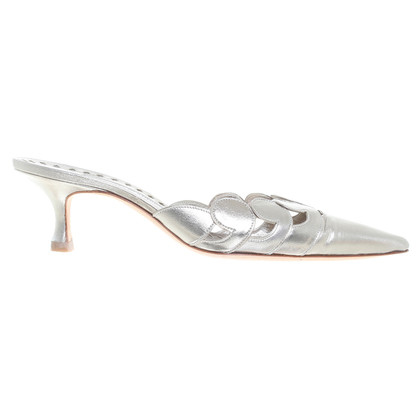 Manolo Blahnik Pumps in SIlber