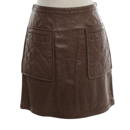 Phillip Lim Leather skirt in brown