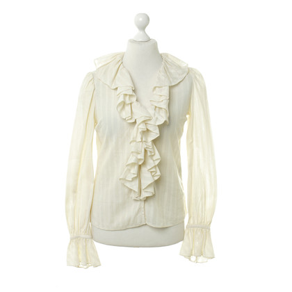 Ralph Lauren Cream colored blouse with Ruffles