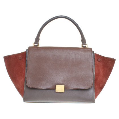 "Céline ""Trapeze Bag Small"" in Cognac/Grau/Braun"
