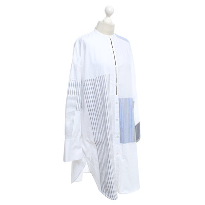 Acne Shirt dress in white / blue