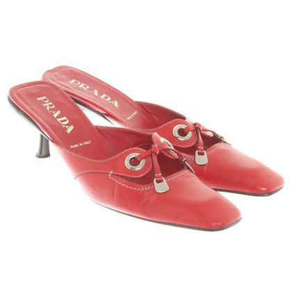 Prada pumps in red