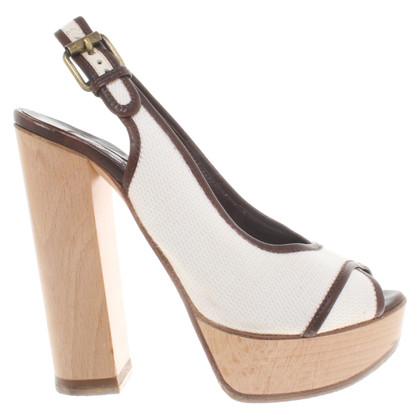 Chloé Sandalen in bruin / wit