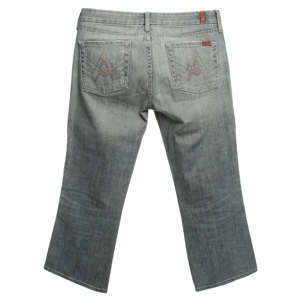 7 For All Mankind Capri jeans in blue - Buy Second hand 7 For All ...