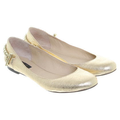Rachel Zoe Ballerinas into gold