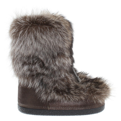 Brunello Cucinelli Snow fox bont laarzen