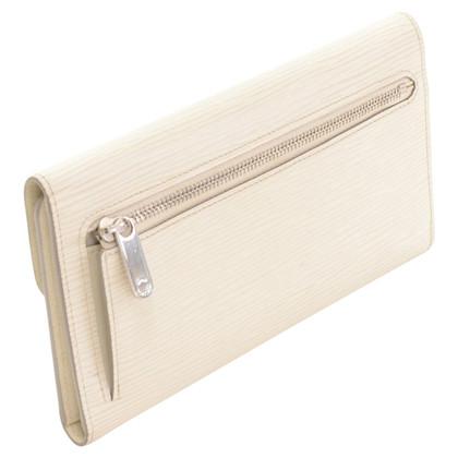 Louis Vuitton White EPI leather wallet