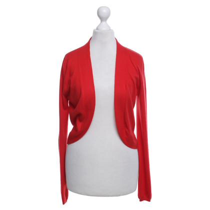 Allude Short cardigan in red