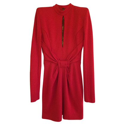 Balmain Red woolen dress