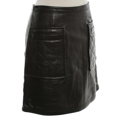 Phillip Lim Leather skirt in black