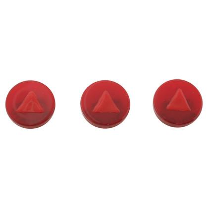 Miu Miu Three brooches in red