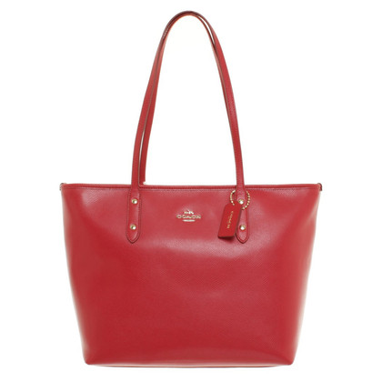 "Coach ""City Zip"" Tote in red"